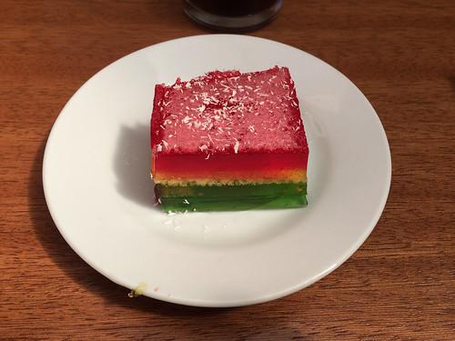 Potosi: le drapeau bolivien s'invite même dans nos assiettes ;)
