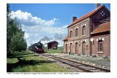 Mézières sur Oise. 140 C 314 & train. 2.5.04
