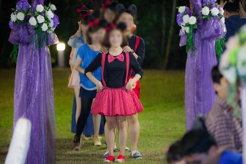 推薦婚宴場地:台南商務會館,米老鼠米奇的特殊結婚婚禮風格新人二進3--兔子舞