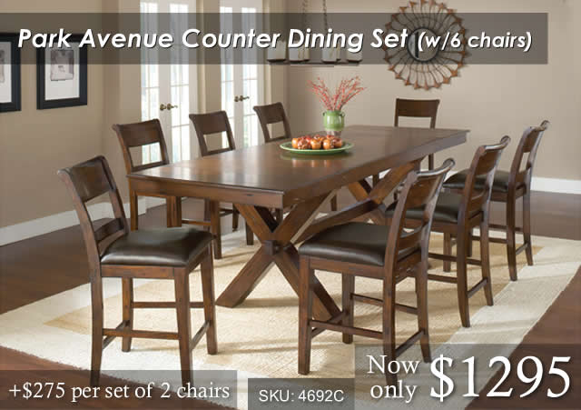 Park Ave Counter Dining Set 6chairs