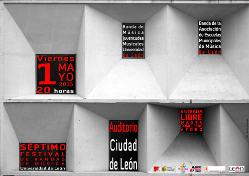 """VII FESTIVAL DE BANDAS DE MÚSICA """"UNIVERSIDAD DE LEÓN"""" 2015 - VIERNES 1 DE MAYO´15"""