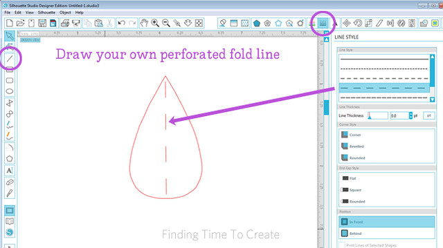 Fold line for raindrop