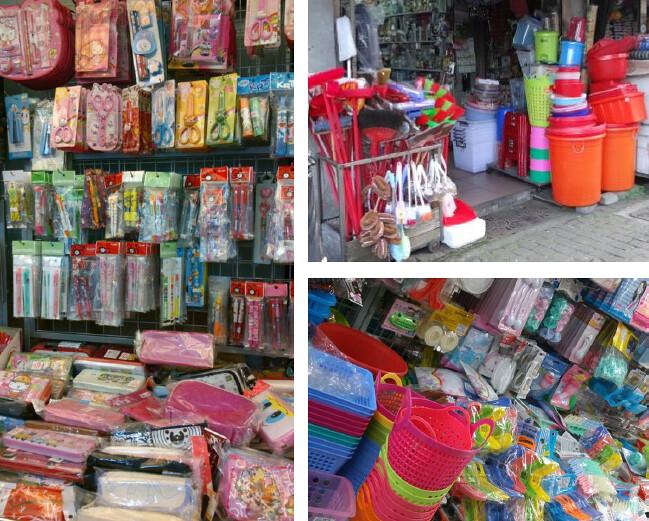 生活中充斥的塑膠:包裝與日用品。讀者可以觀察身邊的賣場、商店,幾乎每一 樣商品都有一層購買後就會被丟棄的塑膠包裝。(筆者攝 )