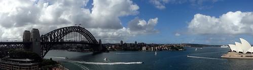 bridge panorama clouds harbour sommer sydney wolken australia operahouse hafen brücke sonne sydneyharbour sydneyoperahouse sydneyharbourbridge cloudsstormssunsetssunrises