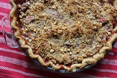 pecan pie(0.0), produce(0.0), pie(1.0), baking(1.0), rhubarb pie(1.0), baked goods(1.0), food(1.0), dish(1.0), dessert(1.0), cherry pie(1.0),