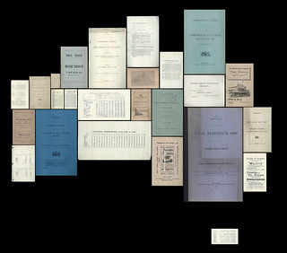 Publications used by Royal Commission as to the Desirability of Federation with the Commonwealth of Australia, 1900-1901