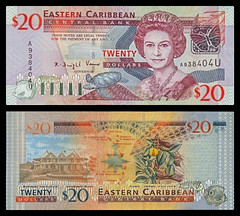 (XCD5e) 2003  Eastern Caribbean States, Anguilla, Eastern Caribbean Central Bank, Twenty  Dollars (A/R)...