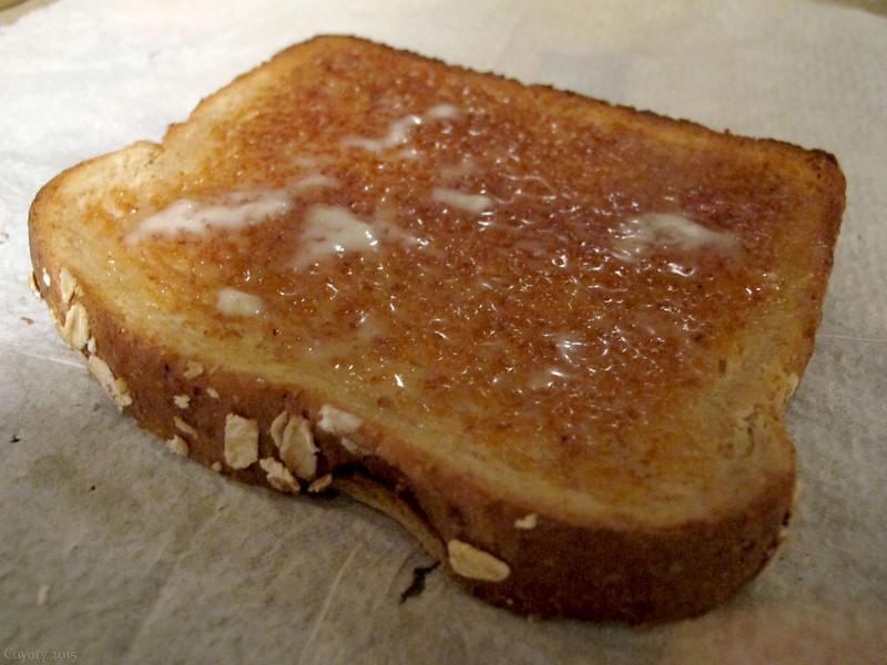 Buttery oatmeal toast