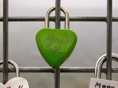 Liebesschloss in grün