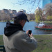 Steve Garfield Taking Photos of the Boston Swan Boats by CC Chapman
