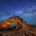 """Milky Way over Dragon Arch - Escalante by IronRodArt - Royce Bair (""""Star Shooter"""")"""
