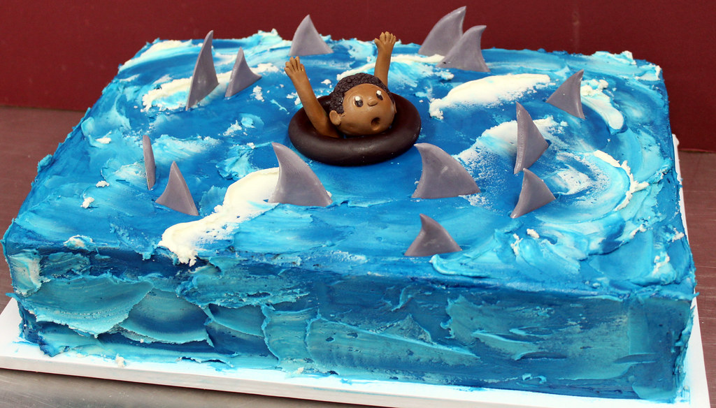 Funny Blue Birthday Cake