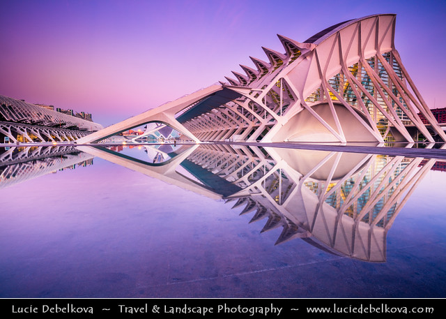 Spain - Valencia - City of Arts and Sciences at Sunrise