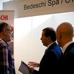 Delegates at the Bedeschi Stand