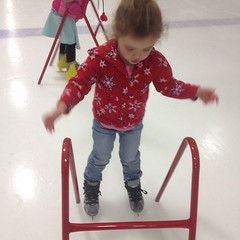 Look ma!  No hands. #iceskate #skate
