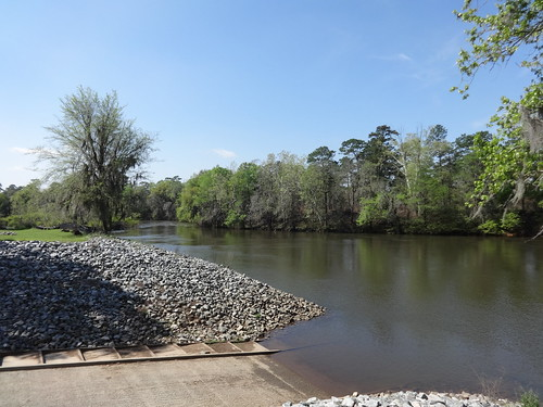 Looking south at boat ramp and Flint River, Flint River Park