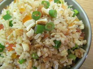 Rice Salad with Cashews and Dried Papaya