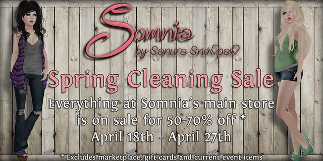 Somnia :. Spring Cleaning Sale