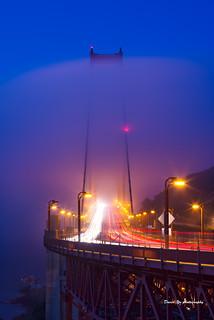 Morning Fog - Vista Point Golden Gate Bridge