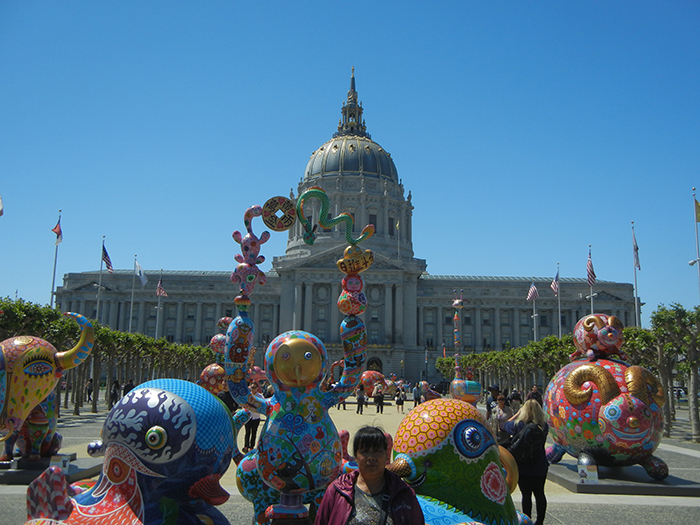 DSCN3170 - Fancy Animal Carnival by Taiwanese artist Hung Yi (洪易) at SF Civic Center