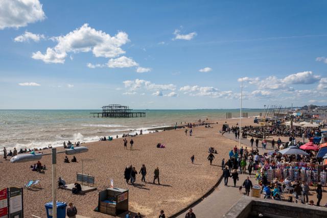 Brighton beach.
