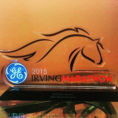 Thank you @cityofIrving for our wonderful plaque! #CityOfIrving #IrvingMarathon #ValleyRanch