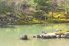 Gardens landscape lake pool koi carp palace Tenryuji Shrine Japan Kyoto Buddhist Shinto Ukyo-ku Rinzai