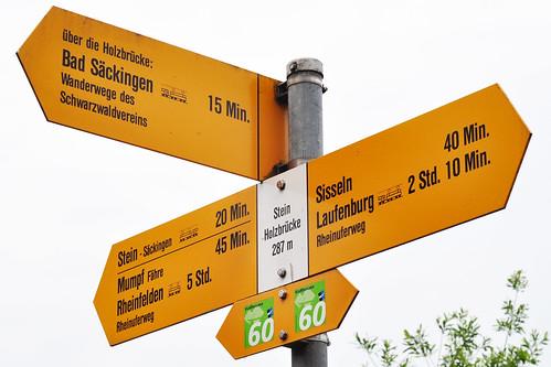 Bad Säckingen Hochrhein Rhein Holzbrücke nach Stein Schweiz