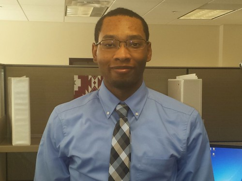 Marcus Peebles, a Procurement Technician with the Agricultural Marketing Service
