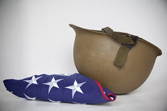 US Army helmet - American flag - World War II Helmet