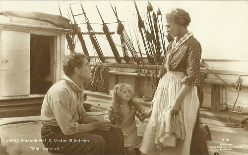 Victor Sjöström and Jenny Hasselquist in Eld ombord