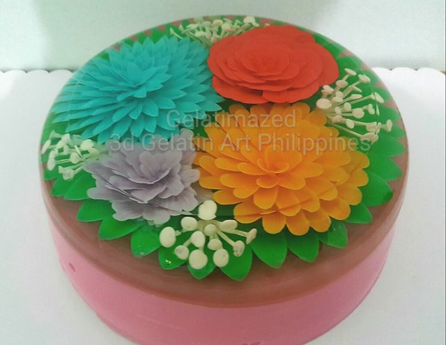 Two Layer Cake Inside 3D Gelatin Art by Jose Domondon III of Gelatimazed – Gelatin 3D Design Philippines