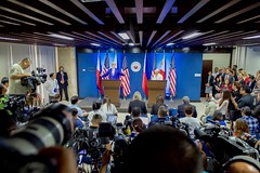 U.S. Secretary of State John Kerry addresses reporters during a joint news conference with Philippines Foreign Secretary Perfecto Yasay at the Department of Foreign Affairs in Manila, Philippines, following their bilateral meeting on July 27, 2016. [State Department Photo/Public Domain]