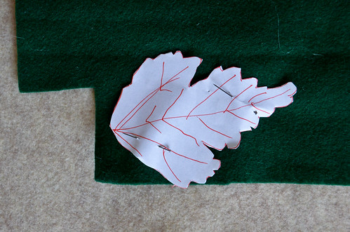Step 1: Trace leaf pattern