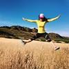 Taking big leaps this week! Just believe!  #manifest #leap #intheair #magic #hiking #socal #losangeles #tw #fitfam #lasportiva