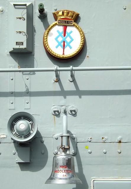 HMS Middleton Badge & Bell 25-04-15