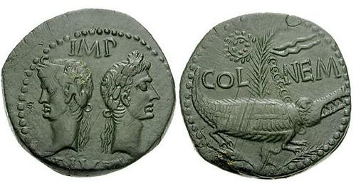 Copper coin of Nemausus
