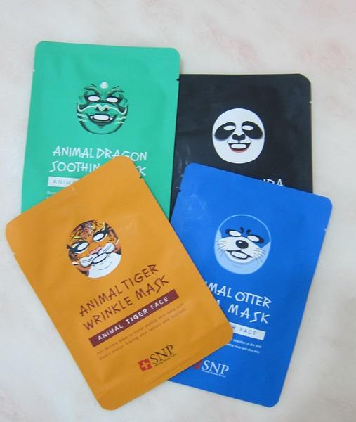 SASA SNP 動物面膜系列 1,莎莎SASA,韓國,SNP,動物面膜系列,mask,老虎抗皺緊緻面膜 ,海獺保濕水漾面膜,熊貓美白亮肌面膜,神龍敏感舒緩面膜, 美容保養,