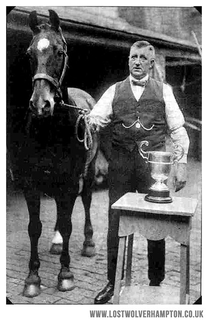 "Albert Thomas pictured in the yard at the ""Barley Mow"", in Pipers Row."