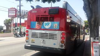 LACMTA Metro Rapid New Flyer NFI XN40 #5856