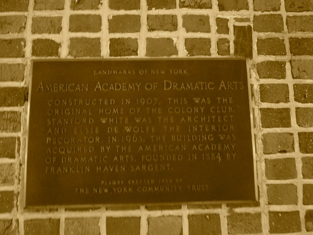 Header of American Academy of Dramatic Arts