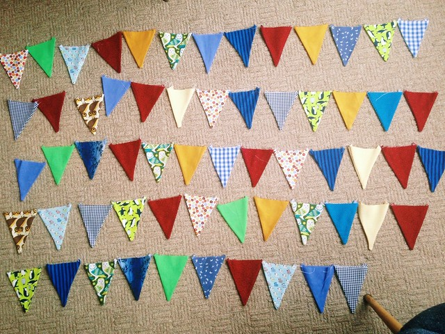 All the bunting triangles