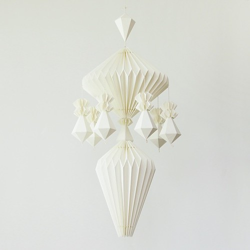 Himmeli-inspired Folded Paper Mobile by Justina Yang