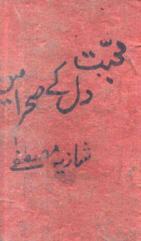 Mohabbat Dil K Sehra Mein is a very well written complex script novel by Shazia Mustafa which depicts normal emotions and behaviour of human like love hate greed power and fear , Shazia Mustafa is a very famous and popular specialy among female readers