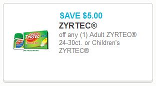 image about Zyrtec Coupon Printable named $7.99 Childrens Zyrtec at Walgreens with Refreshing $5/1 coupon