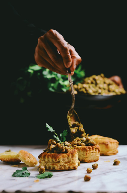 herbed lime chickpea vol au vent | A Brown Table