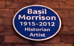 Photo of Basil Morrison blue plaque