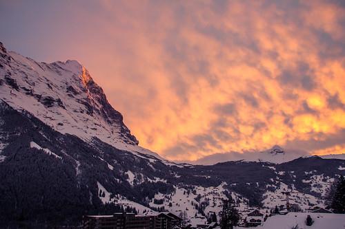 schnee winter sunset snow berg landscape schweiz switzerland landscapes europa europe flickr sonnenuntergang bern grindelwald landschaft fotocommunity kantonbern 500px