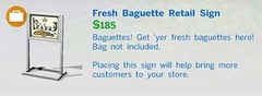Fresh Baguette Retail Sign