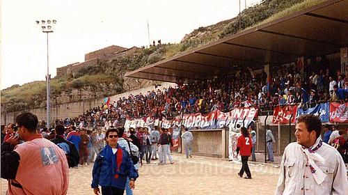 13 maggio 1995: l'invasione rossazzurra nel polveroso stadio di Gangi